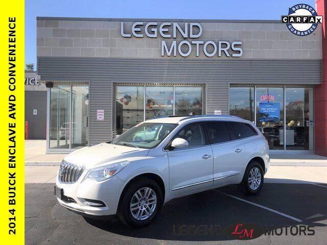 2014 Buick Enclave for sale at Legend Motors of Detroit - Legend Motors of Waterford in Waterford MI