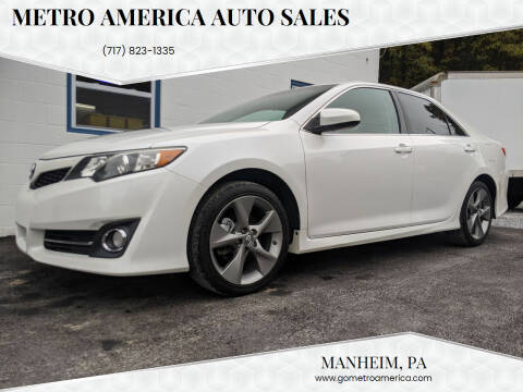 2014 Toyota Camry for sale at METRO AMERICA AUTO SALES of Manheim in Manheim PA