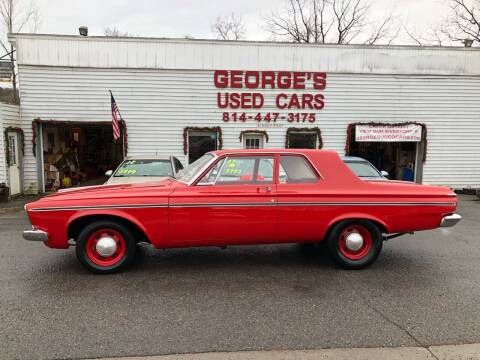 1963 Plymouth Belvedere for sale at George's Used Cars Inc in Orbisonia PA