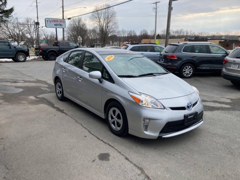 2014 Toyota Prius for sale at JERRY SIMON AUTO SALES in Cambridge NY