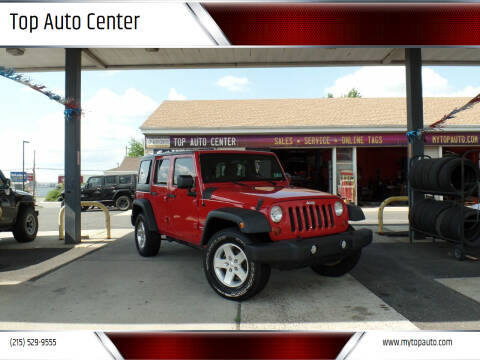 2012 Jeep Wrangler Unlimited for sale at Top Auto Center in Quakertown PA