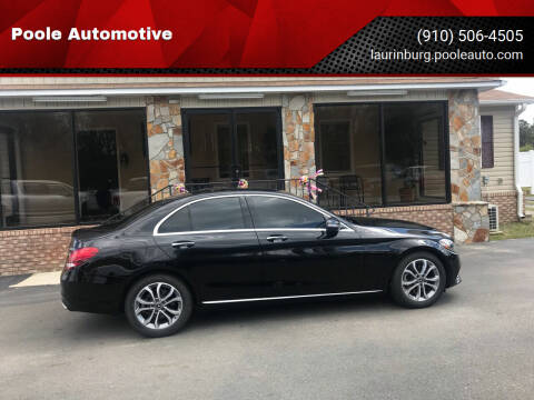 2018 Mercedes-Benz C-Class for sale at Poole Automotive in Laurinburg NC