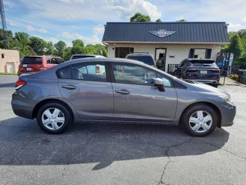 2013 Honda Civic for sale at G AND J MOTORS in Elkin NC