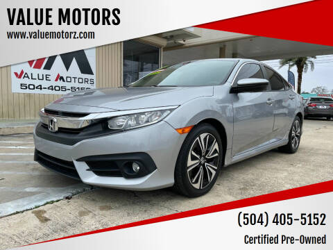 2017 Honda Civic for sale at VALUE MOTORS in Kenner LA