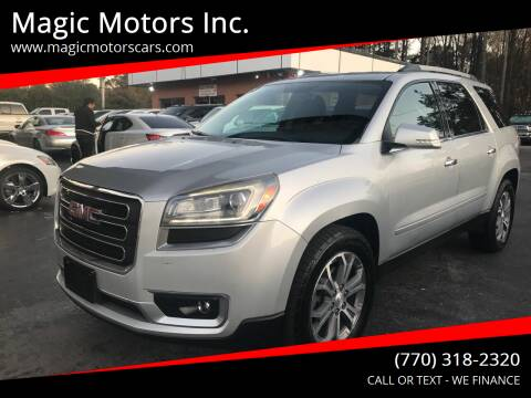 2013 GMC Acadia for sale at Magic Motors Inc. in Snellville GA