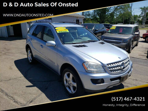 2008 Mercedes-Benz M-Class for sale at D & D Auto Sales Of Onsted in Onsted MI
