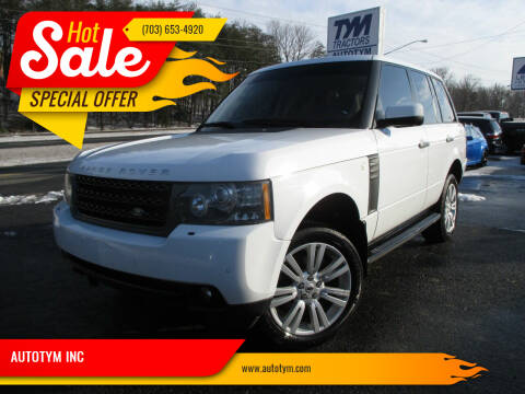 2011 Land Rover Range Rover for sale at AUTOTYM INC in Fredericksburg VA