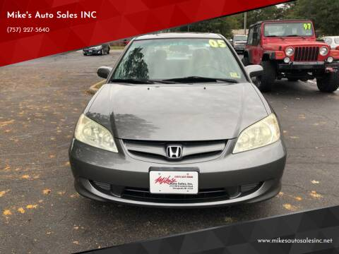 2005 Honda Civic for sale at Mike's Auto Sales INC in Chesapeake VA