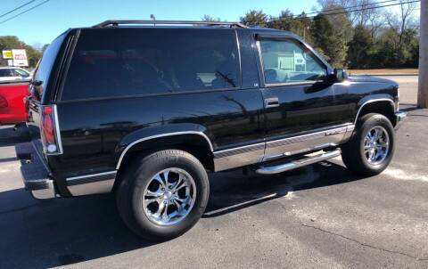 1995 Chevrolet Tahoe for sale at Mac's Auto Sales in Camden SC