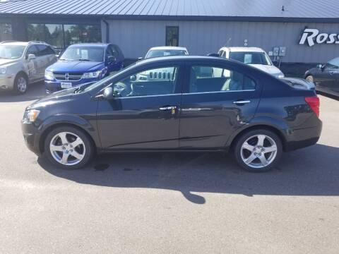 2015 Chevrolet Sonic for sale at ROSSTEN AUTO SALES in Grand Forks ND