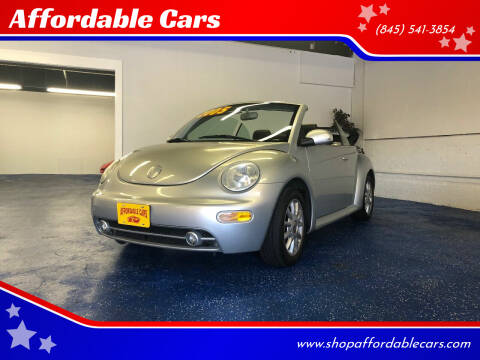 2005 Volkswagen New Beetle Convertible for sale at Affordable Cars in Kingston NY