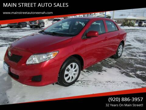2010 Toyota Corolla for sale at MAIN STREET AUTO SALES in Neenah WI
