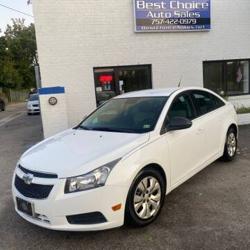 2014 Chevrolet Cruze for sale at Best Choice Auto Sales in Virginia Beach VA