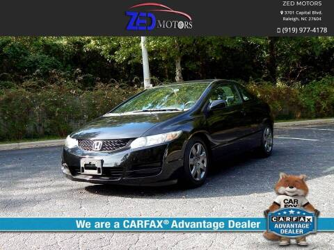 2010 Honda Civic for sale at Zed Motors in Raleigh NC