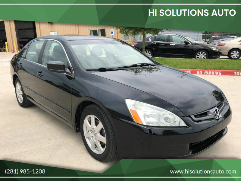 2005 Honda Accord for sale at HI SOLUTIONS AUTO in Houston TX