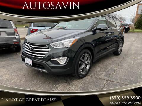 2013 Hyundai Santa Fe for sale at AUTOSAVIN in Elmhurst IL