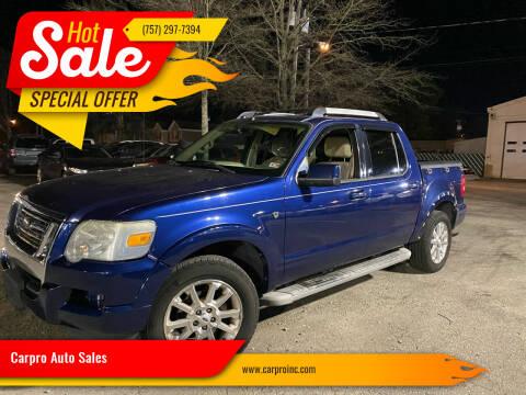2007 Ford Explorer Sport Trac for sale at Carpro Auto Sales in Chesapeake VA
