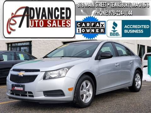 2011 Chevrolet Cruze for sale at Advanced Auto Sales in Tewksbury MA