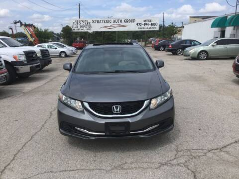 2013 Honda Civic for sale at Strategic Auto Group in Garland TX
