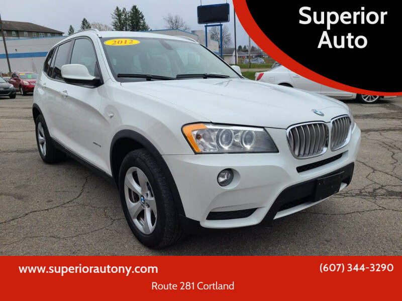 2012 BMW X3 for sale at Superior Auto in Cortland NY