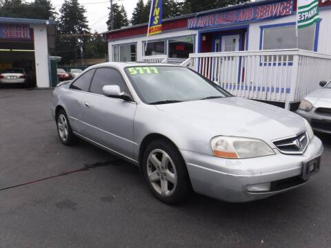 2001 Acura CL for sale at 777 Auto Sales and Service in Tacoma WA