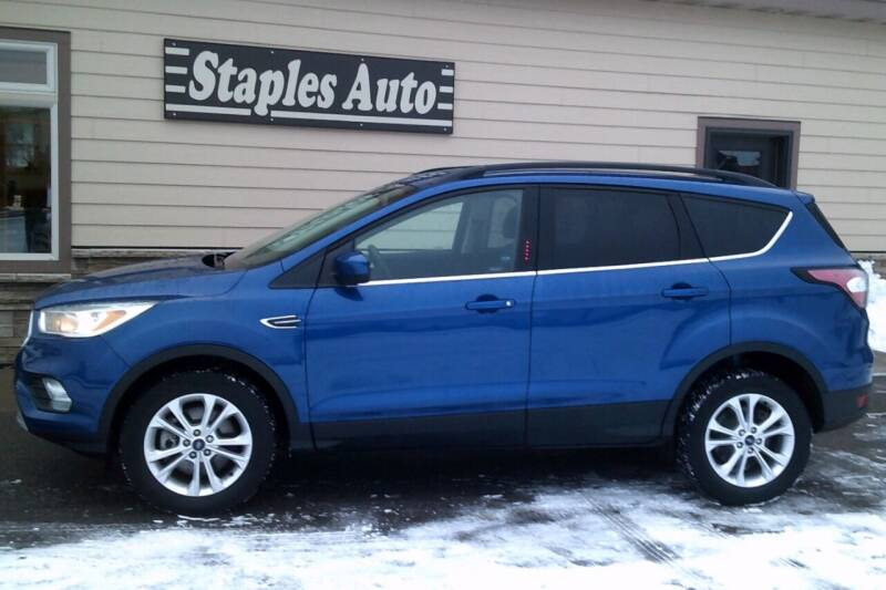 2017 Ford Escape for sale at STAPLES AUTO SALES in Staples MN