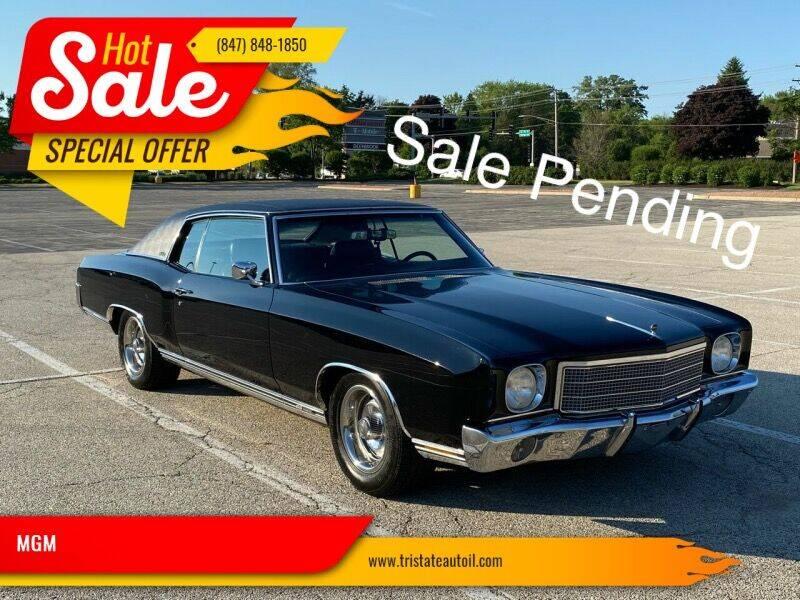 1970 Chevrolet Monte Carlo for sale at MGM CLASSIC CARS in Addison IL