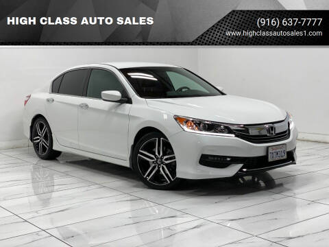 2017 Honda Accord for sale at HIGH CLASS AUTO SALES in Rancho Cordova CA