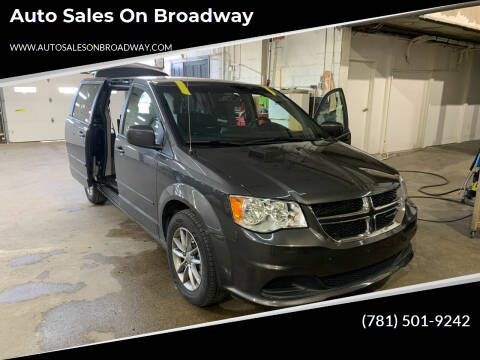 2016 Dodge Grand Caravan for sale at Auto Sales on Broadway in Norwood MA