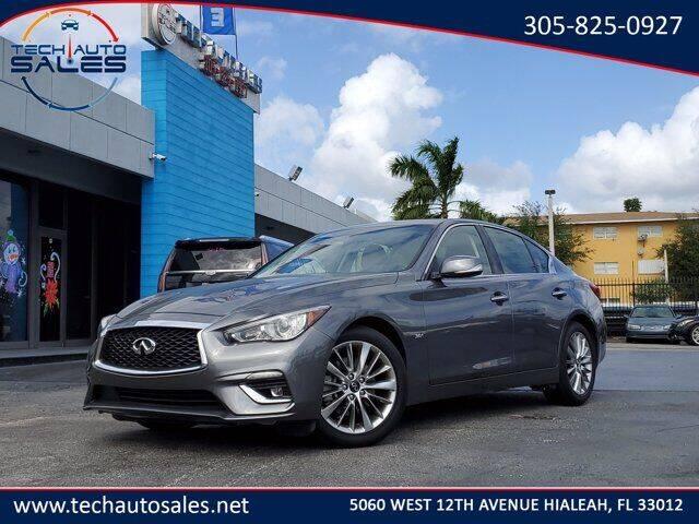 2020 Infiniti Q50 for sale at Tech Auto Sales in Hialeah FL