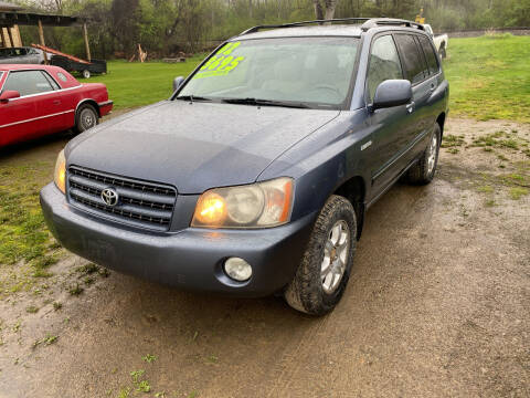 2002 Toyota Highlander for sale at Richard C Peck Auto Sales in Wellsville NY