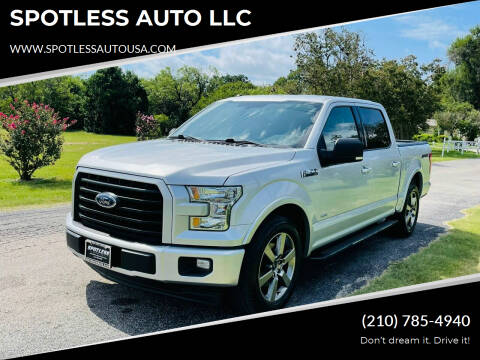 2017 Ford F-150 for sale at SPOTLESS AUTO LLC in San Antonio TX