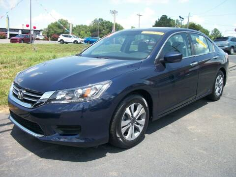 2014 Honda Accord for sale at Lentz's Auto Sales in Albemarle NC