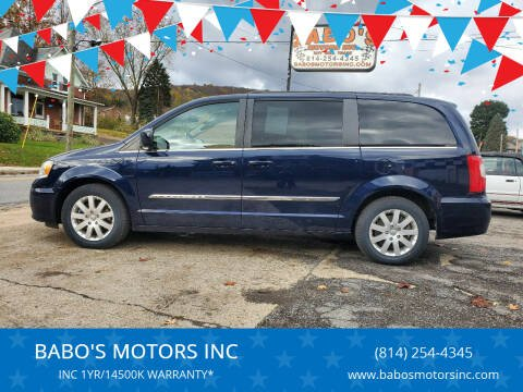 2016 Chrysler Town and Country for sale at BABO'S MOTORS INC in Johnstown PA