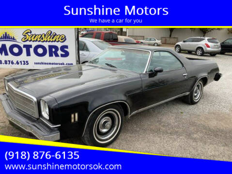 1974 Chevrolet El Camino for sale at Sunshine Motors in Bartlesville OK