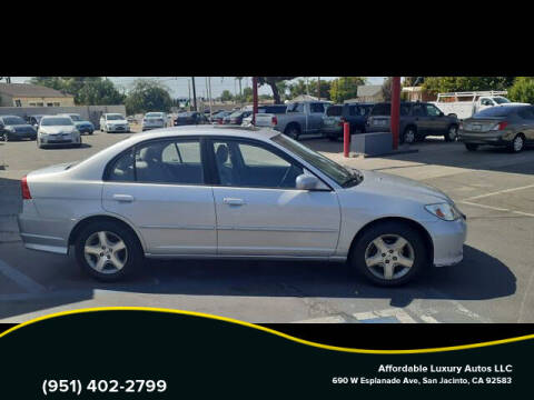 2004 Honda Civic for sale at Affordable Luxury Autos LLC in San Jacinto CA