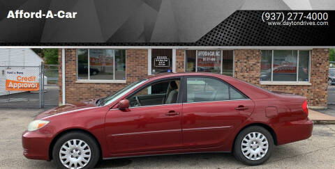 2002 Toyota Camry for sale at Afford-A-Car in Moraine OH