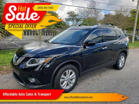 2015 Nissan Rogue for sale at Affordable Auto Sales & Transport in Pompano Beach FL