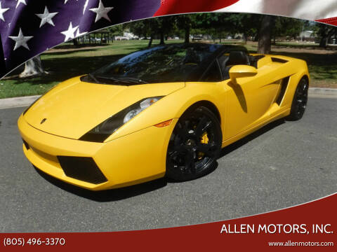 2008 Lamborghini Gallardo for sale at Allen Motors, Inc. in Thousand Oaks CA