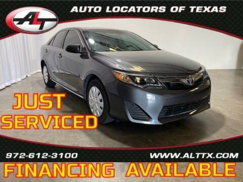 2013 Toyota Camry for sale at AUTO LOCATORS OF TEXAS in Plano TX