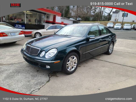 2003 Mercedes-Benz E-Class for sale at CRAIGE MOTOR CO in Durham NC