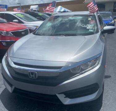 2016 Honda Civic for sale at Navarro Auto Motors in Hialeah FL