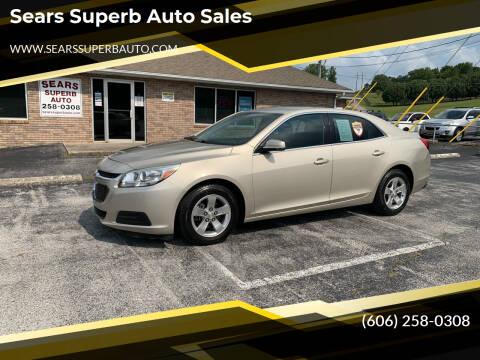 2015 Chevrolet Malibu for sale at Sears Superb Auto Sales in Corbin KY