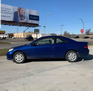2005 Honda Civic for sale at GOOD NEWS AUTO SALES in Fargo ND