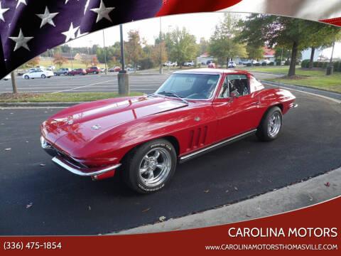 1965 Chevrolet Corvette for sale at CAROLINA MOTORS - Carolina Classics & More-Thomasville in Thomasville NC