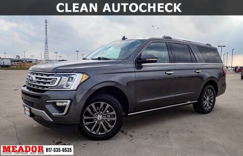 2019 Ford Expedition MAX for sale at Meador Dodge Chrysler Jeep RAM in Fort Worth TX