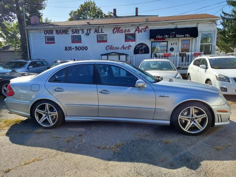 2008 Mercedes-Benz E-Class for sale at Class Act Motors Inc in Providence RI