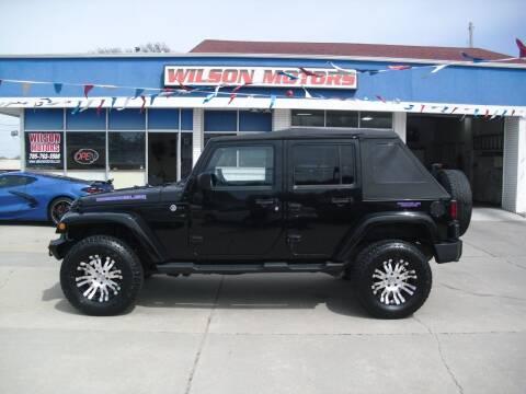 2011 Jeep Wrangler Unlimited for sale at Wilson Motors in Junction City KS