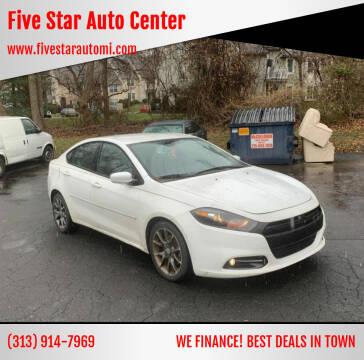 2013 Dodge Dart for sale at Five Star Auto Center in Detroit MI