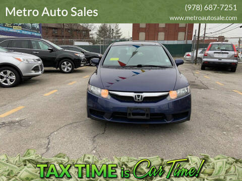 2010 Honda Civic for sale at Metro Auto Sales in Lawrence MA
